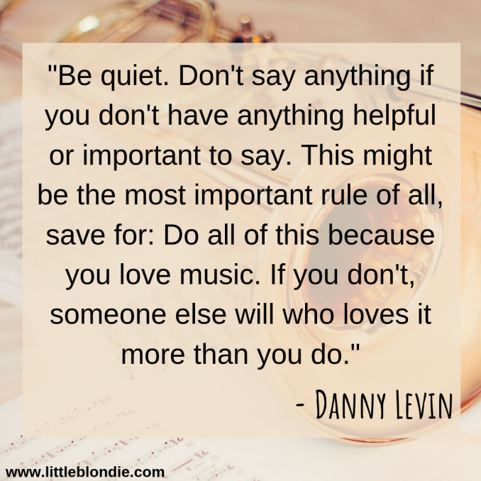 Great quote from Danny Levin with tour tips. See more in this interview!