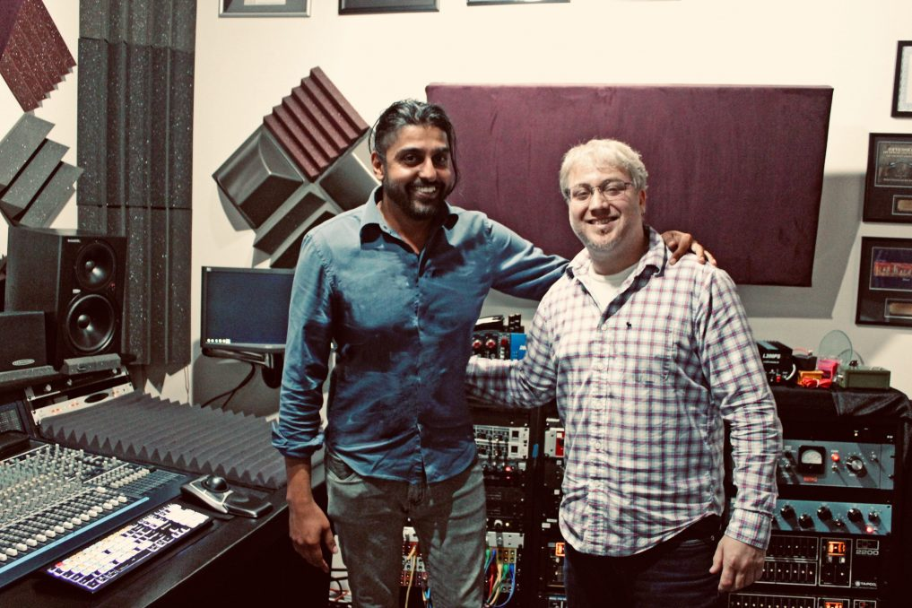 Tim Smith of Soundscape Studios & School of Recording Arts with Aman Sahi of Little Blondie Microphones