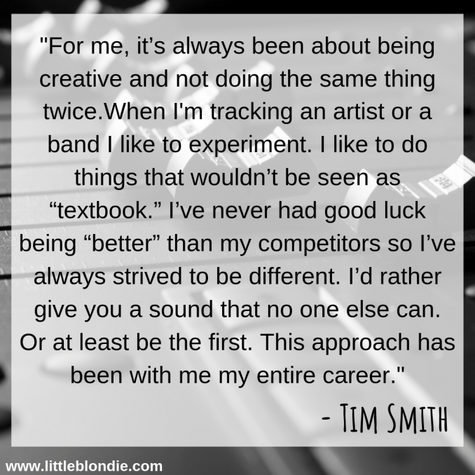 Tim Smith discusses his process for recording and gives tips for others